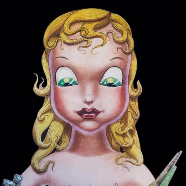 Miss Ko - doll illustration tapestry